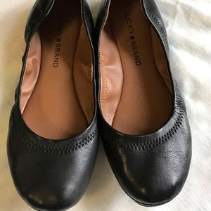 Lucky Brand black flats, size 6.5, barely worn